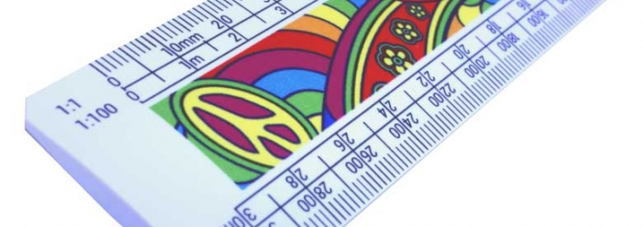 Psychedelic scale rulers