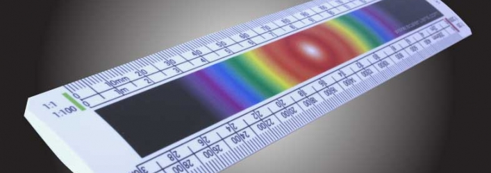 Scale ruler spectrum print