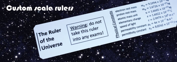 Rules of the Universe scale ruler