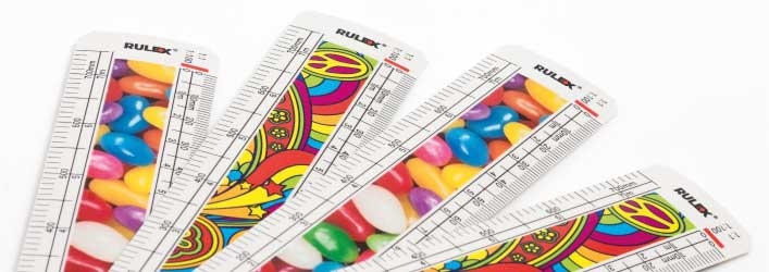Jelly beans scale rulers