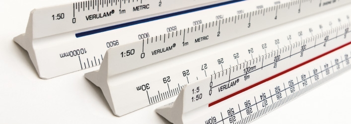 Verulam triangular scale rulers