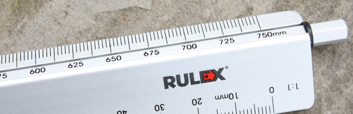 Rulex metal scale ruler with rotating scales
