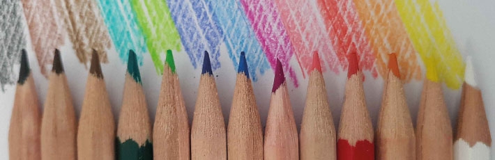 Promotional pencils with coloured leads