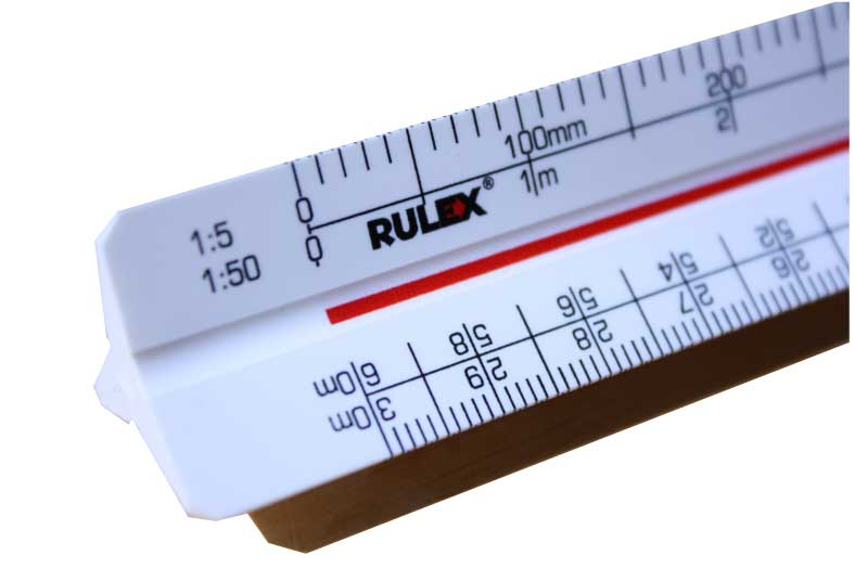 Rulex triangular scale rulers