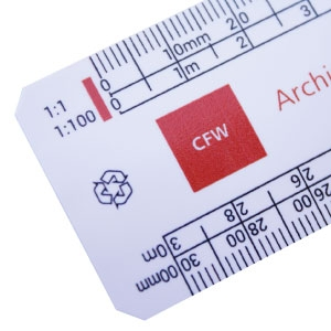 300mm flat oval scale ruler RECYCLED