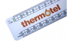 300mm flat oval scale rulers